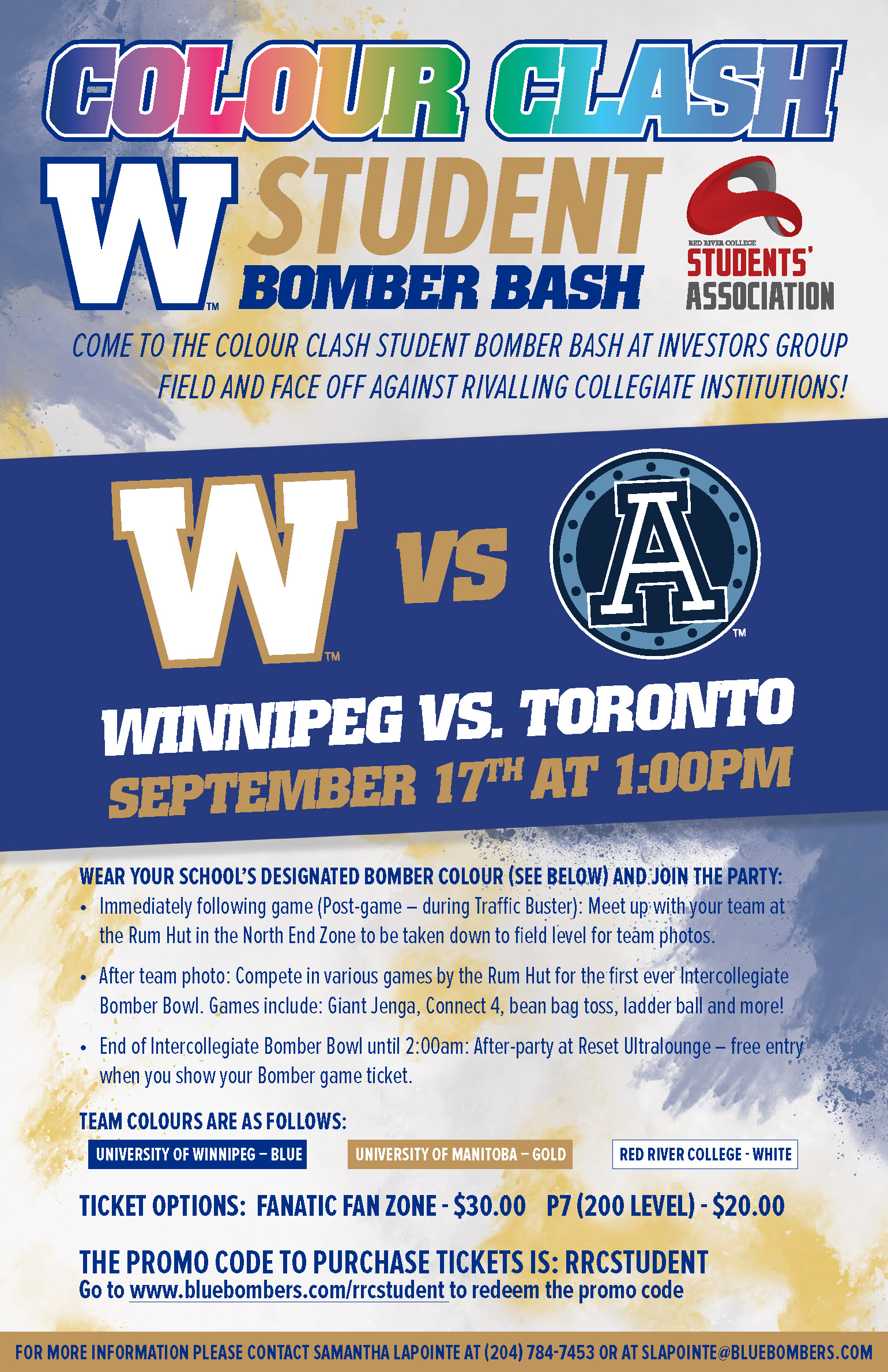 Student Bomber Bash RRC Poster Email Ready