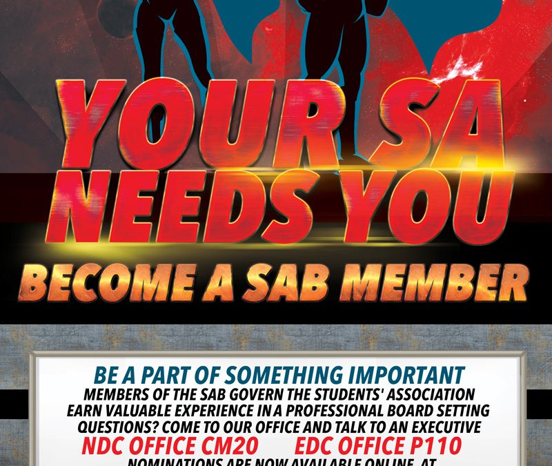 the SA needs you